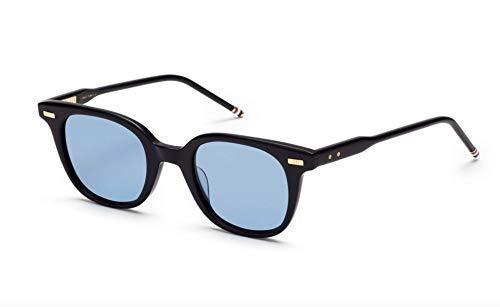 Sunglasses THOM BROWNE Matte Navy w/ Dark Blue-AR