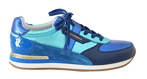 Blue Leather Mens Casual SneakersBlue Leather Mens Casual Sneakers