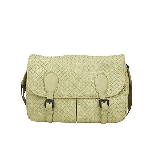 Bottega Veneta Intrecciato Beige Leather Woven Shoulder Bag