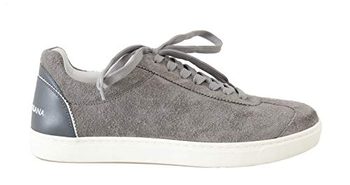 Dolce & Gabbana Gray Leather Mens Casual Sneakers