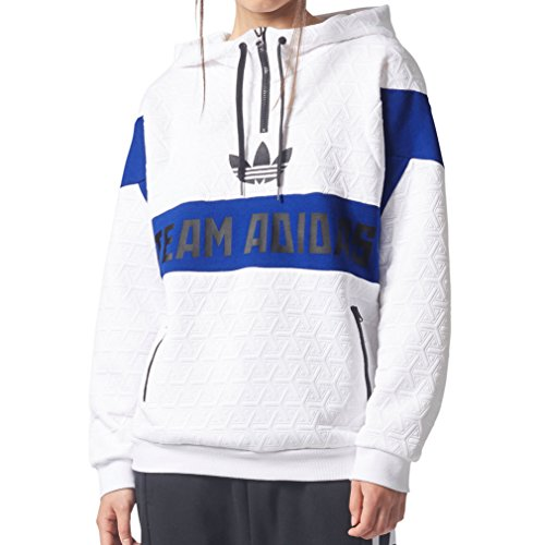 Adidas Mens Archive Hoodie S - White/Blue