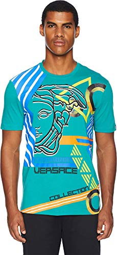 Versace Collection Men's Modern Medusa Tee Turquoise Large