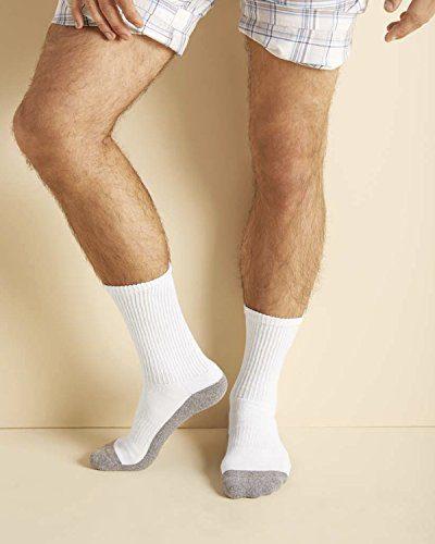 Gildan Platinum Mens Crew Socks White