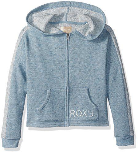 Roxy Girls' Big Listen Closely Zip-Up Hooded Sweatshirt