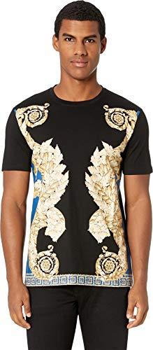 Versace Collection Men's Filigree T-Shirt Blue Medium