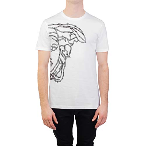 Versace Collection Men's Cotton 'Tape' Medusa Graphic