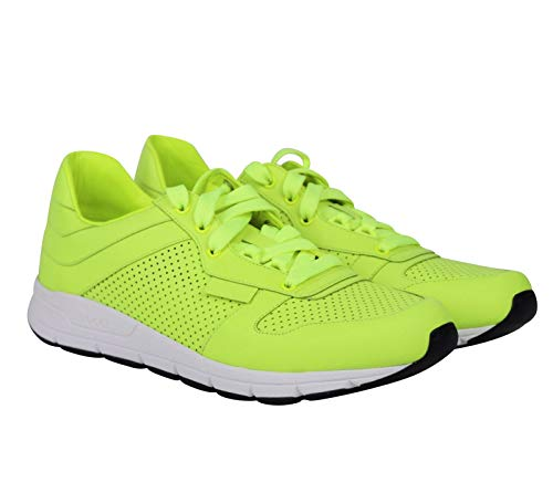 ca646f483 Gucci Lace up Neon Yellow Leather Running Sneakers Clout Wear ...
