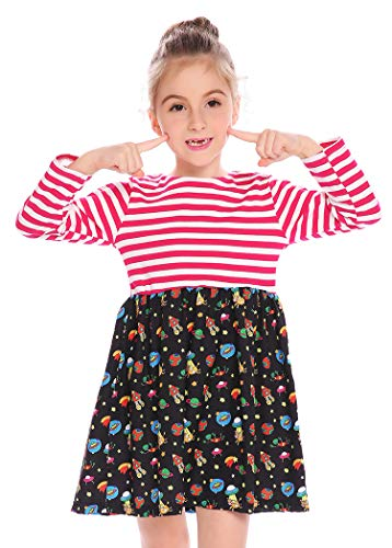 f3a93895052 Arshiner Kids Girls Long Sleeve Casual Dress Clout Wear Fashion for ...