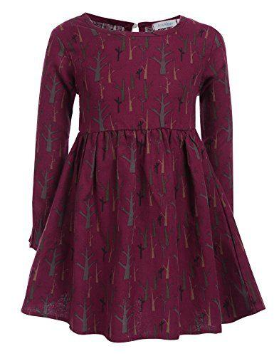 Arshiner Kids Girls Vintage Long Flare Sleeve Print