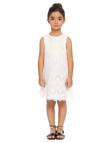 Arshiner Girls Sleeveless Vintage Lace Dress Wedding