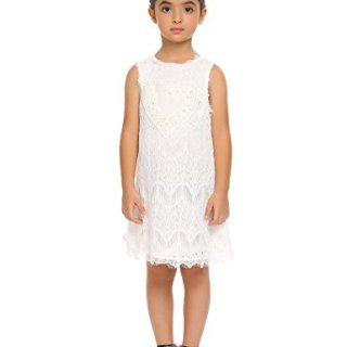 Arshiner Girls Sleeveless Vintage Lace Dress Wedding