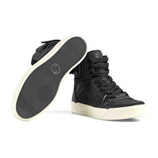 Gucci Men's Nylon Guccissima High-Top Sneaker