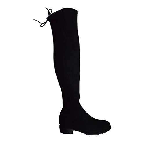 Kaitlyn Pan Lowland Black Over The Knee Boots
