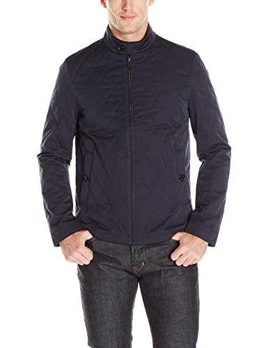 Ted Baker Men's Noah Quilted Jacket, Navy, 2/Small