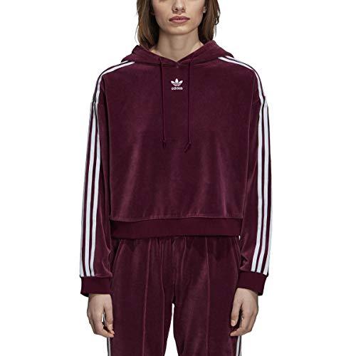 Adidas Women's Originals 3-Stripes Trefoil Cropped Hoodie