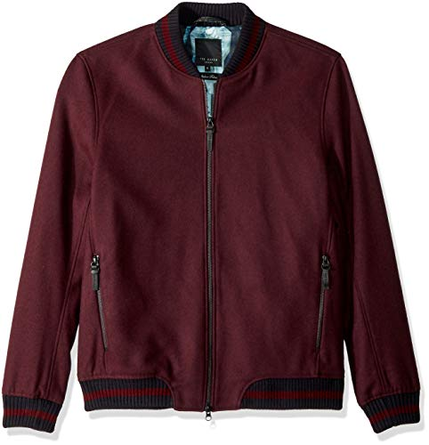 Ted Baker Men's Freddy Modern Slim Fit Wool Bomber Jacket