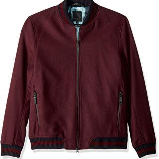 Ted Baker Men's Freddy Modern Slim Fit Wool Bomber Jacket
