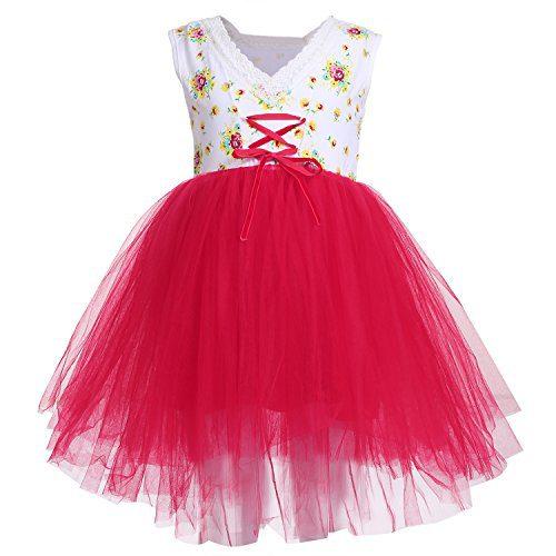 Arshiner Little Girls Sleeveless Tutu Party Princess Dress