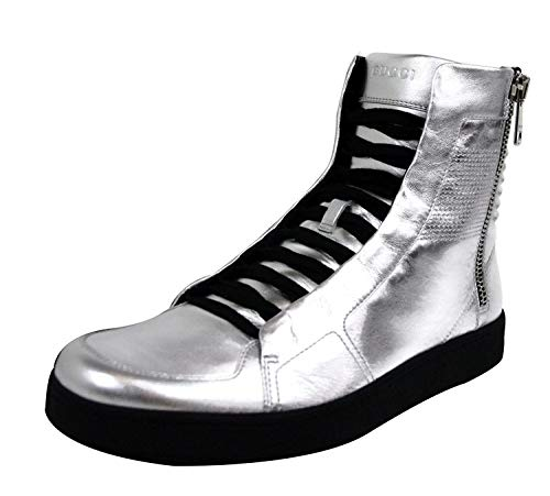 Gucci Men's Silver Leather Limited Edition High top Sneakers