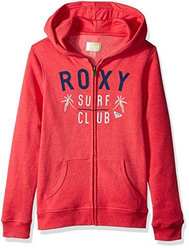 Roxy Girls' Big Endless Round Zip-Up Hooded Sweatshirt