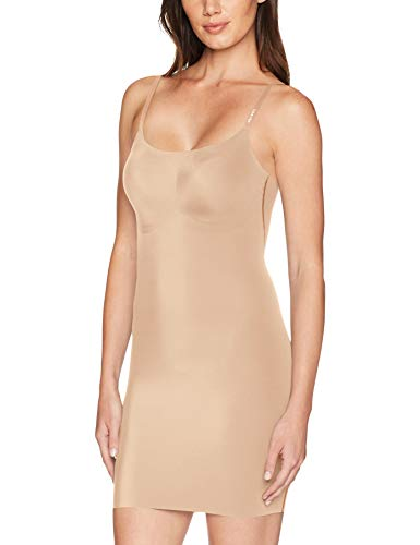 Calvin Klein Women's Invisibles Full Slip, Bare, Medium