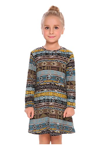 Arshiner Little Girls Long Sleeve Sundress