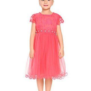 Arshiner Girls Lace Dress Princess Party Tutu Dresses