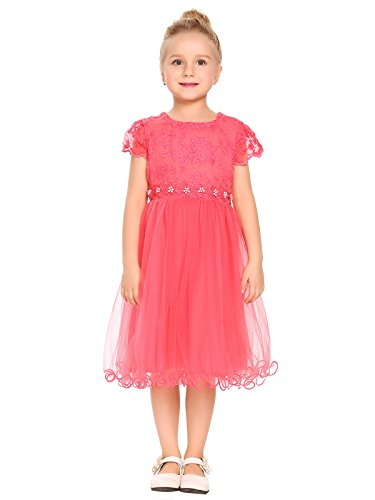 Arshiner Girls Lace Dress Princess Party Tutu Dresses