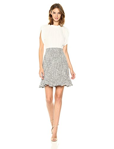 Rebecca Taylor Women's Sleeveless Silk & Tweed Dress