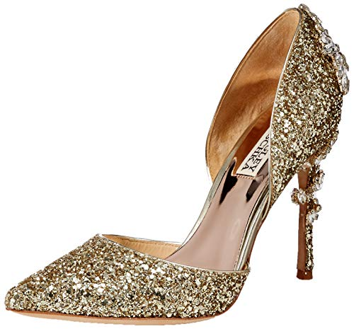 Badgley Mischka Women's Vogue III Pump, Platino Glitter