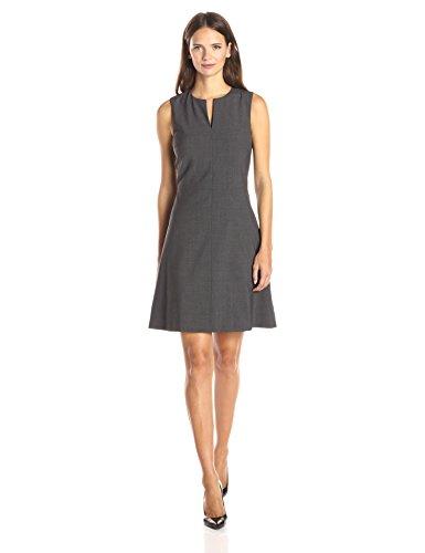 Theory Women's Sleeveless A Line Miyani Dress, Charcoal 6