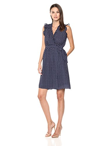 Rebecca Taylor Women's Sleeveless Ikat dot Dress