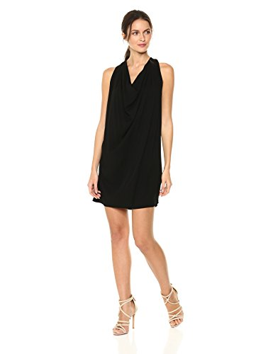 Michael Stars Women's Rylie Rayon Draped Halter Dress