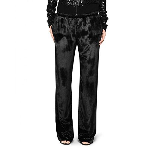 Tamara Mellon Panne-velvet Straight Leg Pants