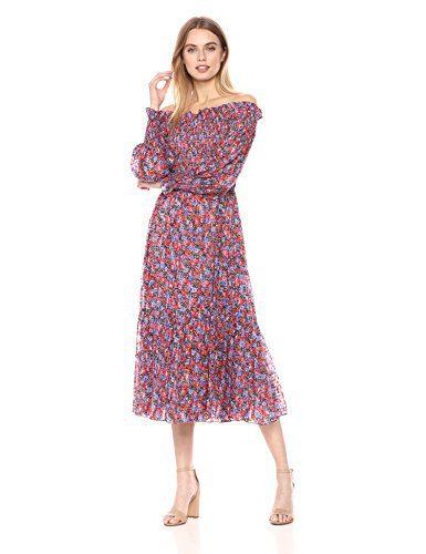 Rebecca Taylor Women's Off-Shoulder Cosmic Floral Dress