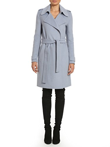 Badgley Mischka Women's Double Face Wool Wrap Trench Coat