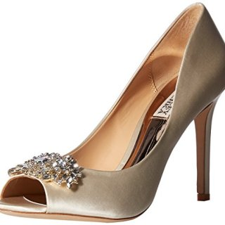 Badgley Mischka Women's PALOMA Pump Ivory Satin