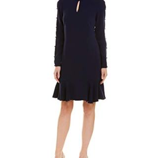 Shoshanna Women's Wyvis Dress, Navy 6