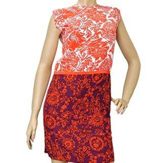 Gucci Women's Multi-Color Floral Silk T-Shirt Runway Dress