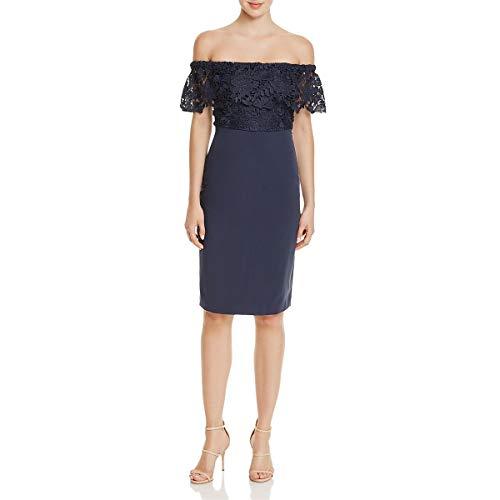 StyleStalker Womens Madeleine Lace Off The Shoulder Cocktail Dress