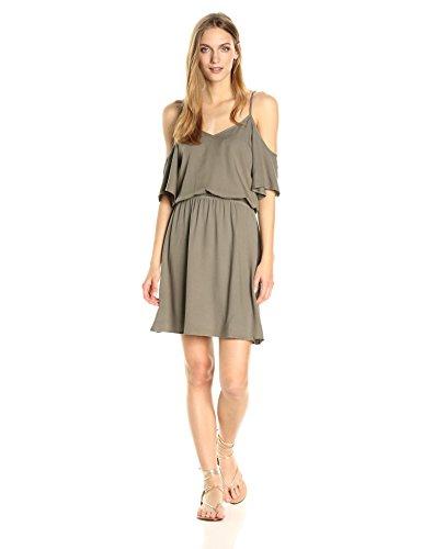Splendid Women's Cold Shoulder Dress, Military Olive, M