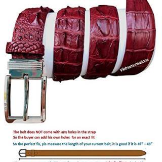 NoJointed # PIN buckle # Men's Belt Genuine Crocodile