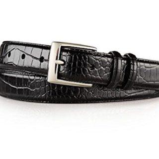 Polo Ralph Lauren Mens Crocodile Embossed Italian Leather Belt