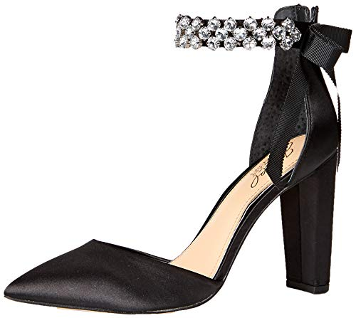 Badgley Mischka Jewel Women's Deirdra Pump Black Satin