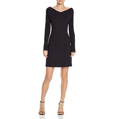 Theory Womens Houndstooth Print Dinner Party Mini Dress