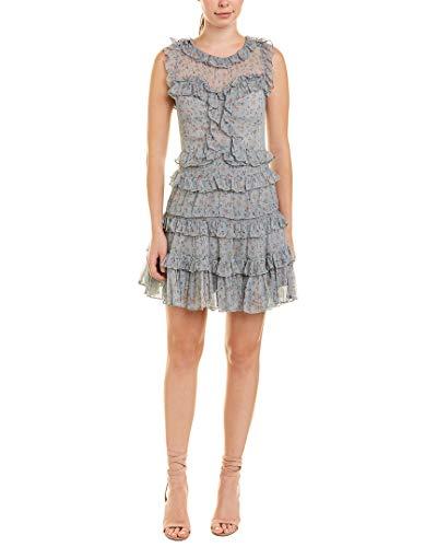 Rebecca Taylor Women's Sleeveless Vine Ruffle Dress