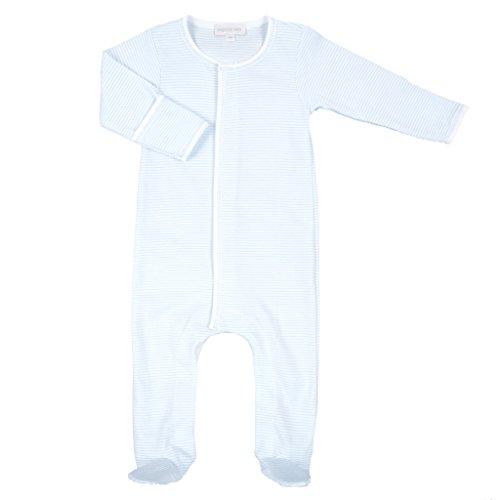 Magnolia Baby Baby Boy Mini Stripe Essentials Footie Blue Newborn