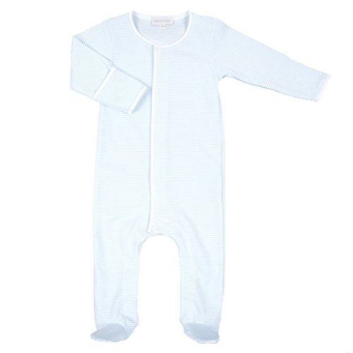 Magnolia Baby Baby Boy Mini Stripe Essentials Footie Blue Newborn