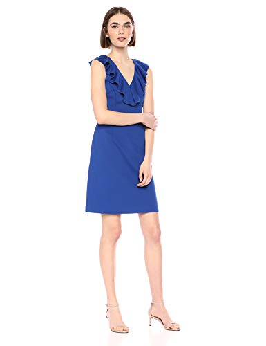 Trina Turk Women's Alpina Ruffle Neck Dress