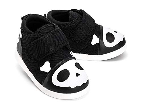 ikiki Skull Squeaky Shoes for Toddlers w/Adjustable Squeaker